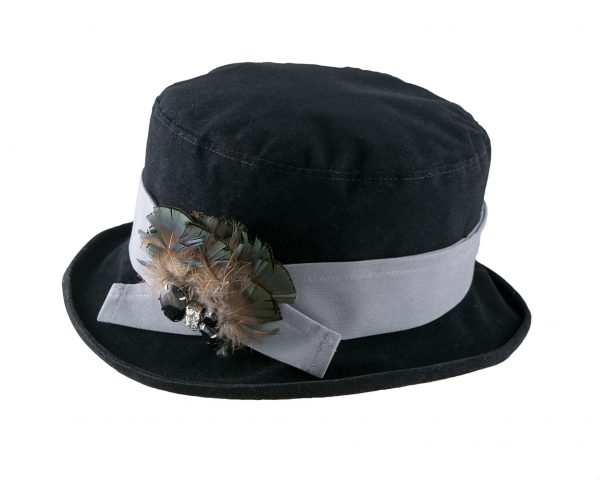 Proppa Toppa - Velour Packable Hat with Velvet Band and Small Boned Brim