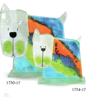 Nobile Fused Glass Dog - Stripe Small