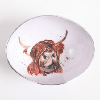Meg Hawkins Design Highland Cow Oval Bowl